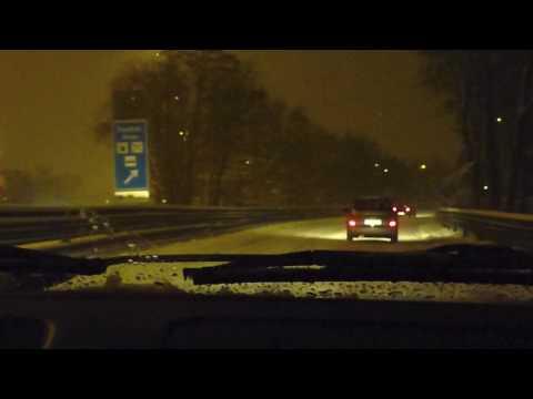 Fahrt durch den Schnee