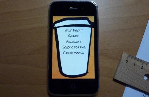 iPhone Starbucks