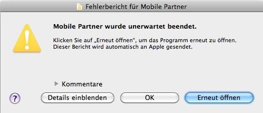 Mobile-Partner-wurde-unerwartet-beendet