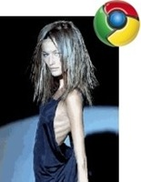 if browsers were women - chrome