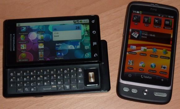 Motorola Milestone und HTC Desire