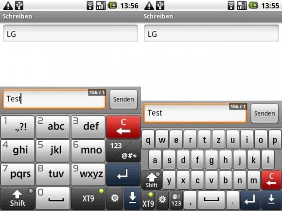LG GT540 OPTIMUS Touch Tastatur