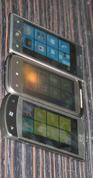 Samsung OMNIA 7 - HTC 7 Mozart - LG E900 OPTIMUS 7