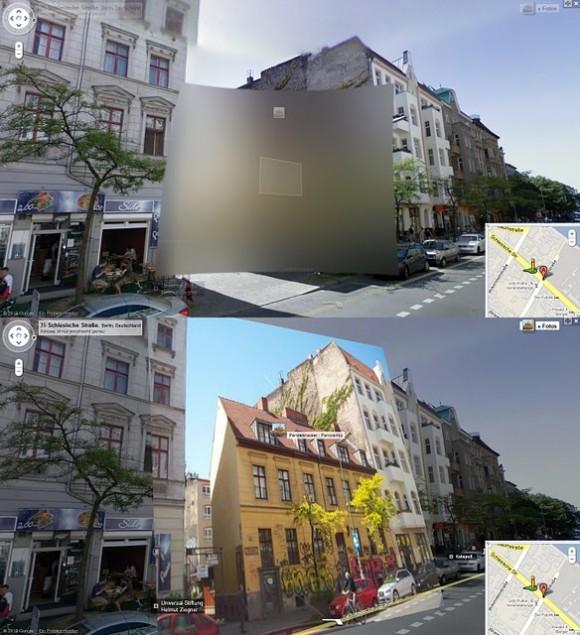 Street View Verpixelung mit Panoramio