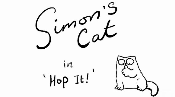 simon's cat: hop it
