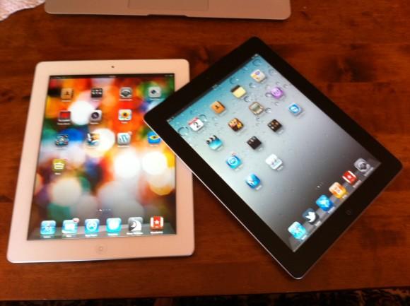 iPad 2 weiß und iPad 2 schwarz