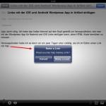 Links mit der Wordpress App für iPhone, iPod Touch und iPad in Artikel einfügen