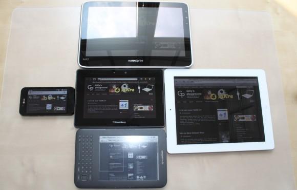 Größenvergleich BlackBerry PlayBook