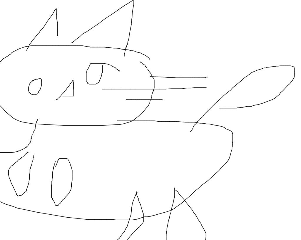 Katze Paint
