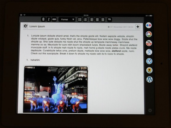 iPad App Blogsy