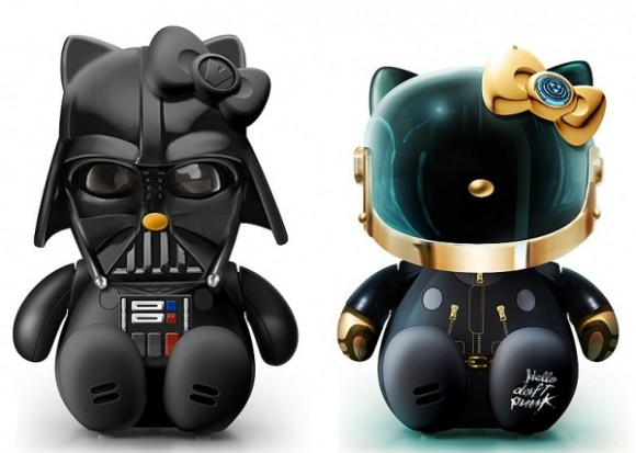 Hello Darth Kitty & Hello Daft Punk GUY