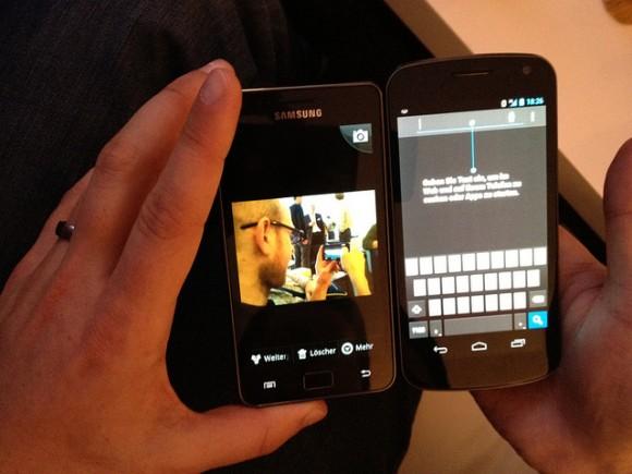 Samsung Galaxy SII und Samsung Galaxy Nexus
