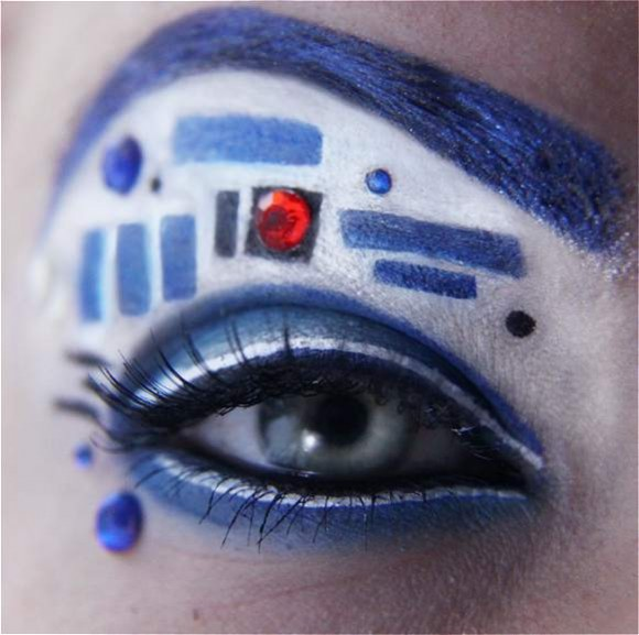 May The 4th Be With You Reddit: Handbemalte R2-D2-Shorts & R2-D2-Make-up + The Droids We