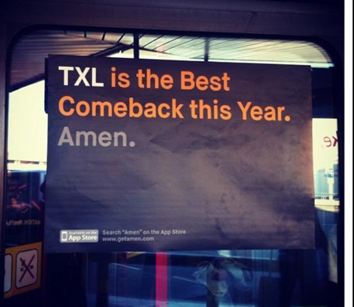 TXL is the best comeback