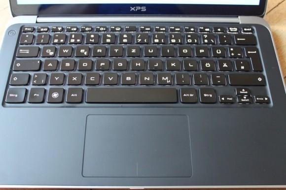 Dell XPS 13 Ultrabook Tastatur und Touchpad