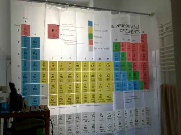 Duschvorhang Periodensystem der Elemente - Big Bang Theory