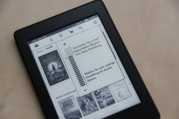 Kindle paperwhite Hintergundbeleuchtung