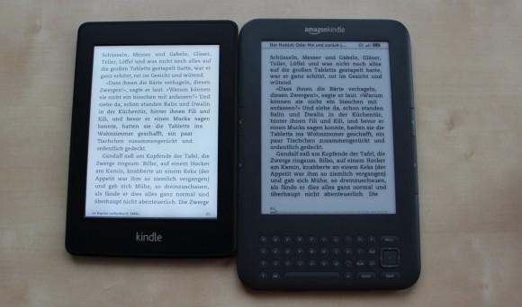 Kindle paperwhite vs Kindle 3 - Kindle keyboard