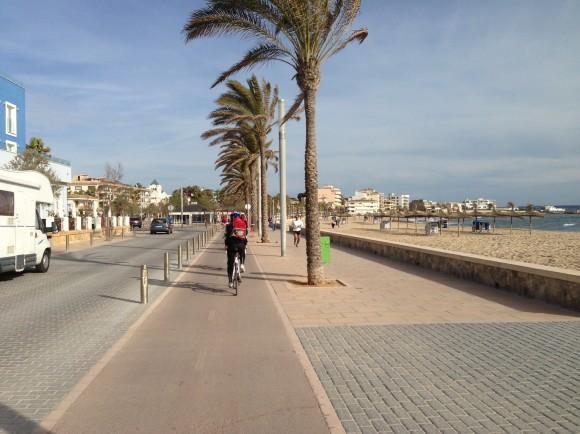 4 Von Palma de Mallorca nach Can Pastilla mit dem Fahrrad