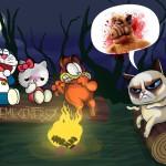 Comic: Grumpy Cat erzählt anderen Katzen eine Horror-Geschichte