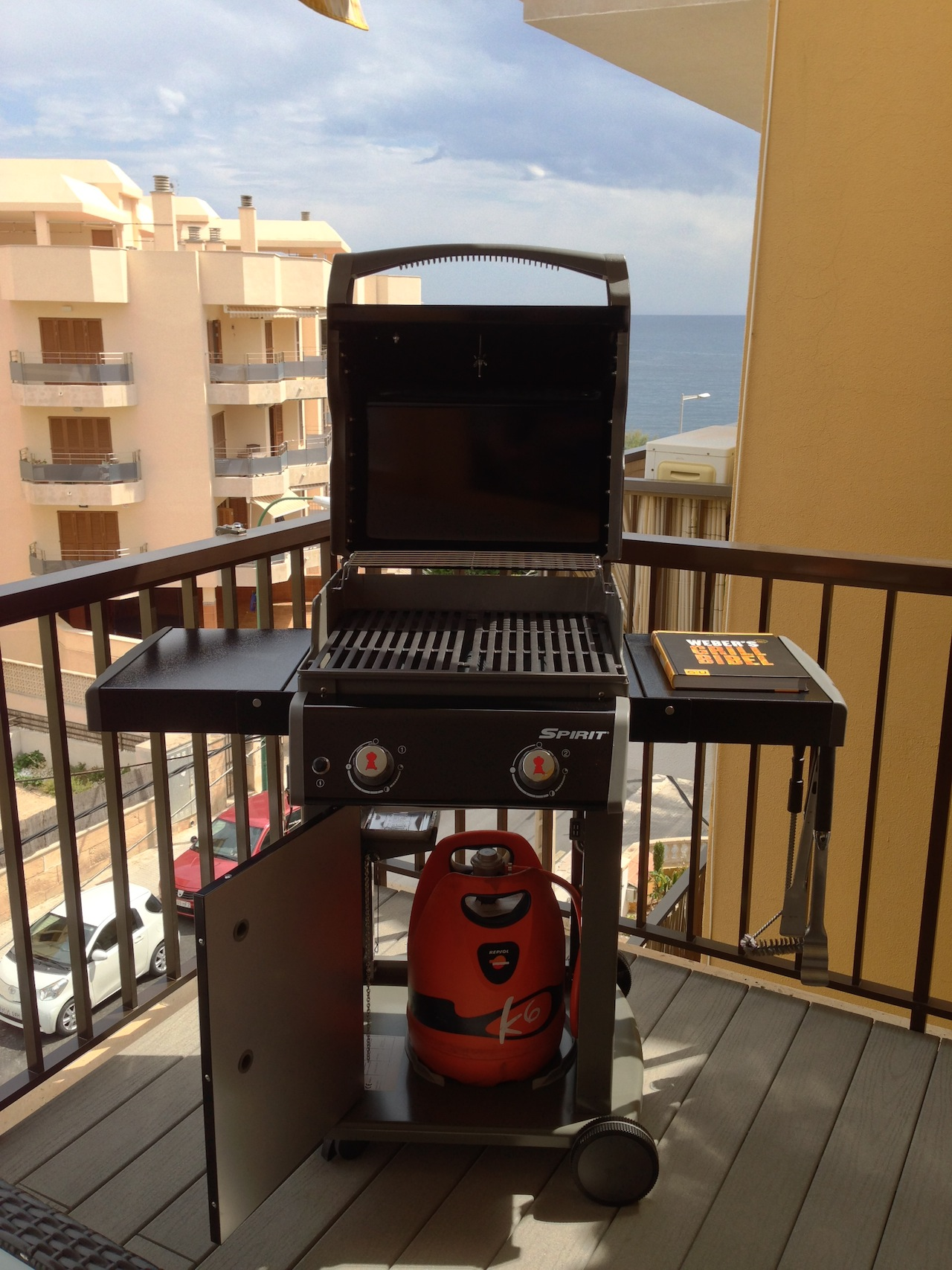 mein neuer gas grill weber spirit e 210 orirginal. Black Bedroom Furniture Sets. Home Design Ideas