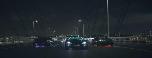 Neon Light Lamborghini Japan