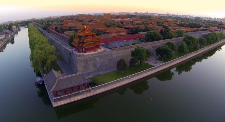 Mit Drohne über Peking