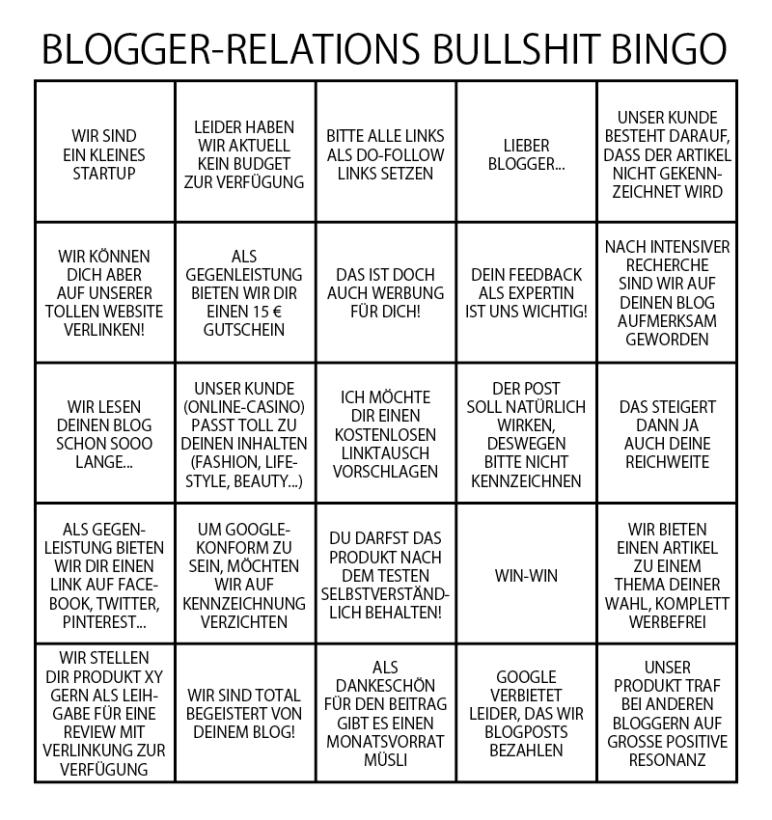 Blogger-Bullshit-Bingo