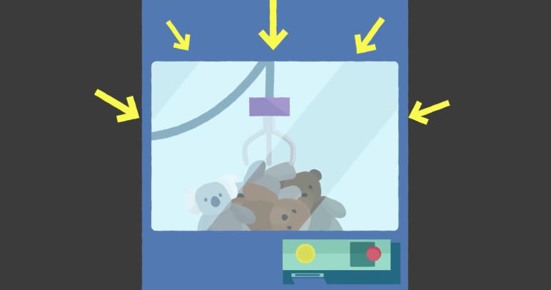 Plüschtiergreif-Automat Betrug