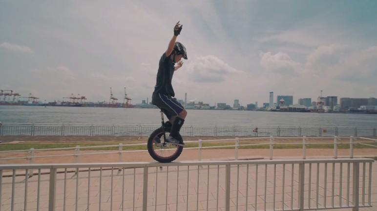Unicycle Trials Einrad Trials