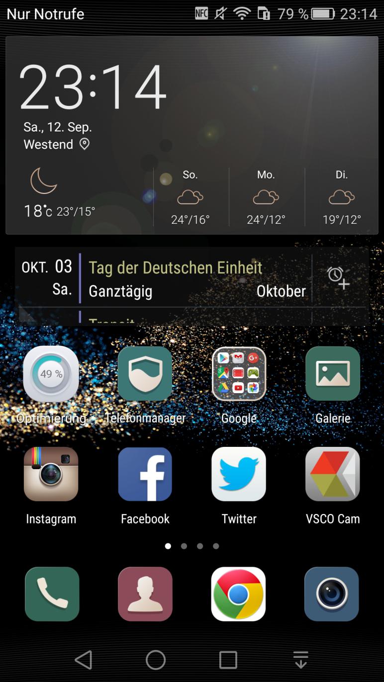 EMUI 3.1 Home-Bildschirm