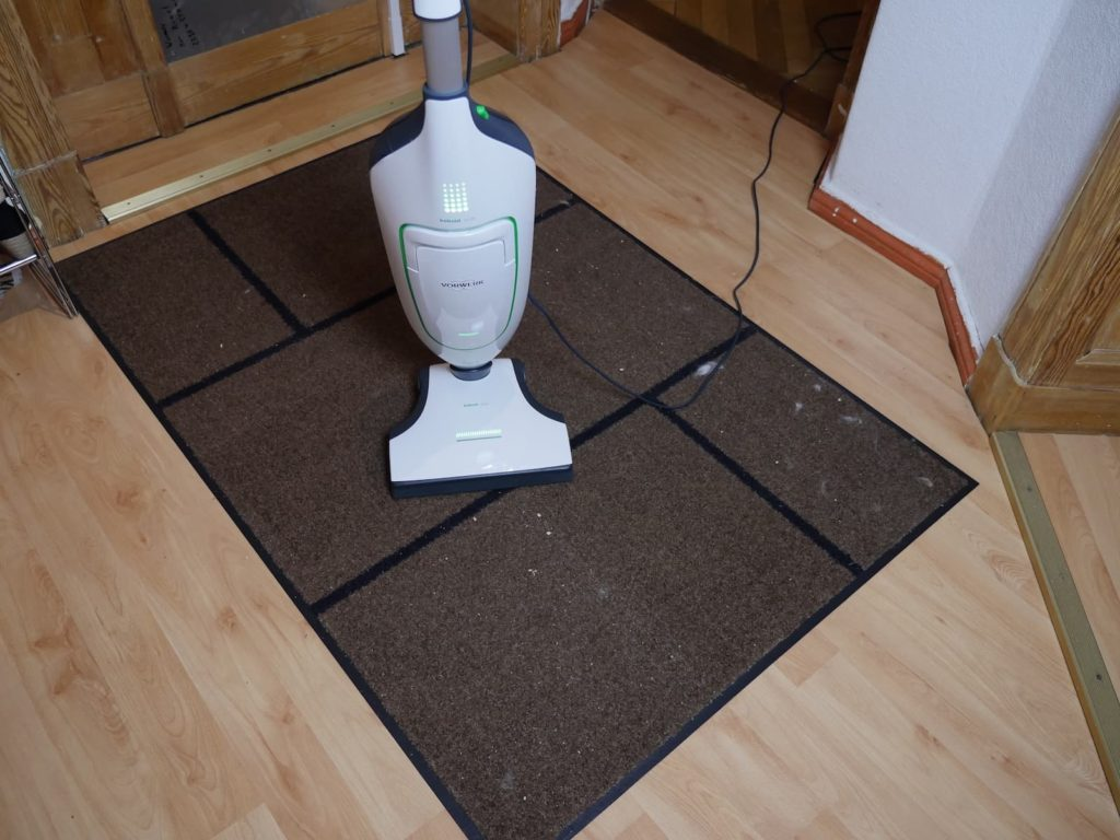 Vorwerk Kobold VK200 Saugleistung auf Teppich
