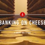 In Italien gibt es eine Käse-Bank. Natürlich mit einem Käse-Tresor!