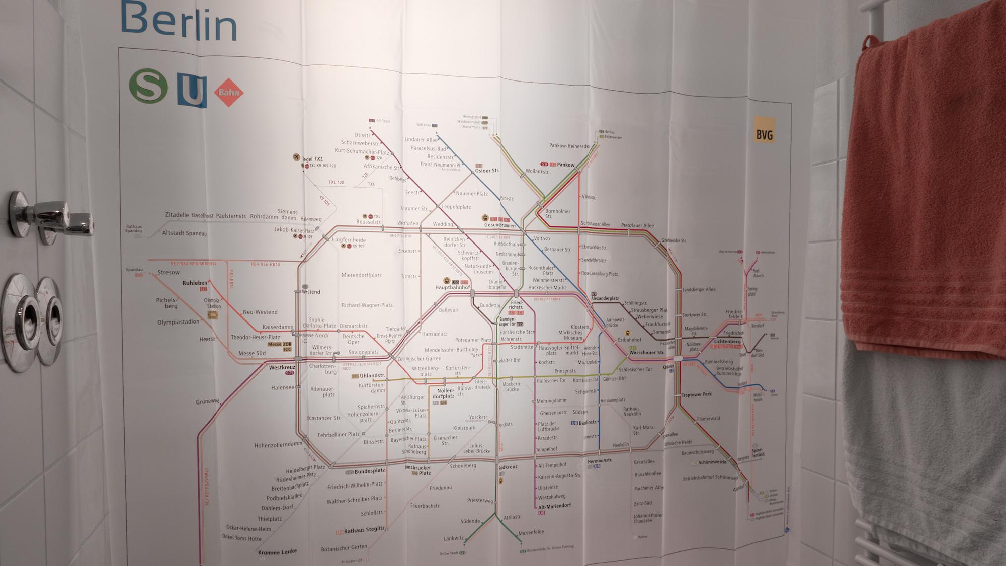Netzplan Duschvorhang Fur Berliner S Und U Bahn Verlosung