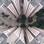 Hong Kongs Hochaus-Siedlungen aus Sicht einer Drohne: Wěndìng Fánróng